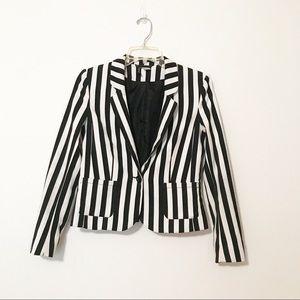 H M vertical stripe blazer jacket c6ef6e870